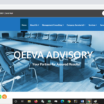 qeeva advisory website design - top management consulting firm in nigeria